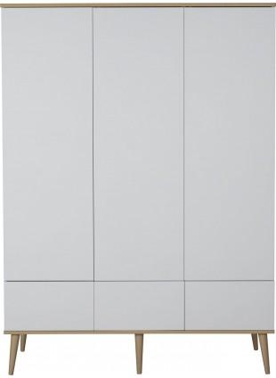 Quax Kleiderschrank XL Flow White & Oak kaufen - Kleine Fabriek
