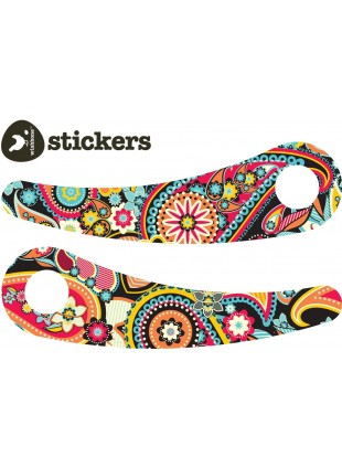 Wishbone Recycled Bike Stickerset Paisley - Kleine Fabriek