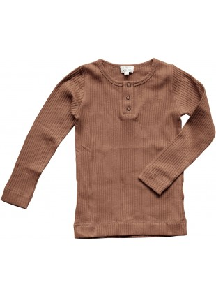 The Simple Folk Baby-Langarmshirt Ribbed Cinnamon