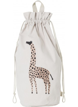 Ferm Living Spielzeugbeutel Safari Giraffe