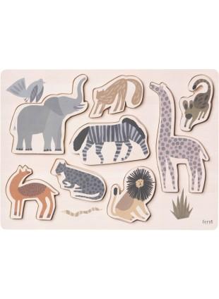 Ferm Living Steck-Puzzle Safari