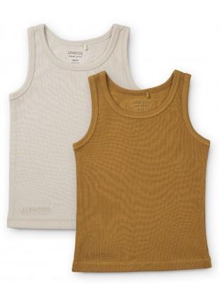 Liewood Unterhemden Set Faris Golden Caramel Sandy Mix