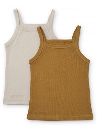 Liewood Unterhemden Set Naomi Golden Caramel Sandy Mix