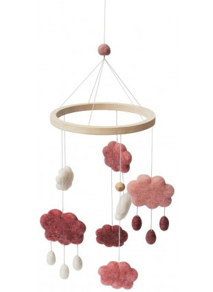 Sebra Filz-Mobile Wolken Cotton Candy Pink
