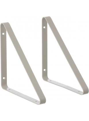 Ferm Living Regalhalterung Shelf Hangers Set Hellgrau
