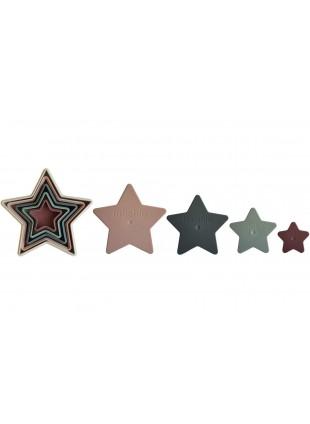 Mushie Steckspiel Stapelturm Nesting Star kaufen - Kleine Fabriek