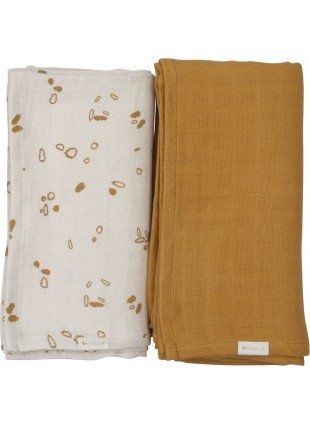Fabelab Swaddle Set Wickeltuch XL Woodland Path