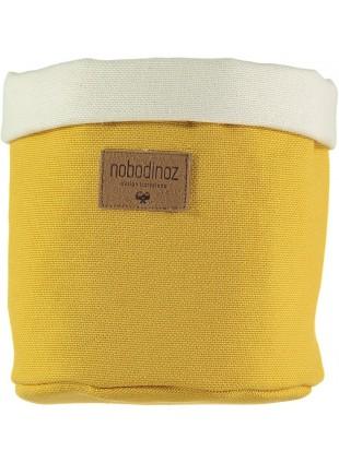 Nobodinoz Stoffkorb Tango Medium in Farniente Gelb kaufen - Kleine Fabriek