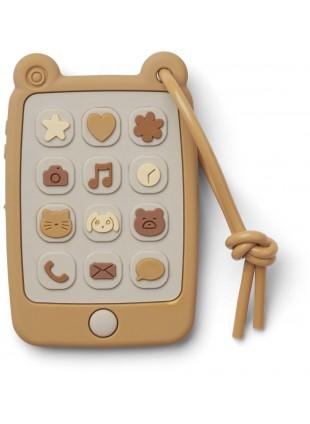 Liewood Silikon Baby Smartphone Beißring Thomas Yellow Mellow