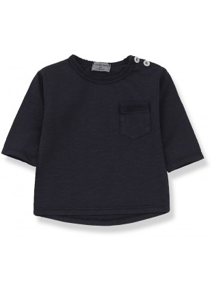 1+ in the family Baby-Shirt Langarm Travi Blue Notte 6 Monate