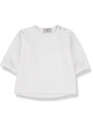 1+ in the family Baby-Shirt Langarm Travi Off-White 6 Monate