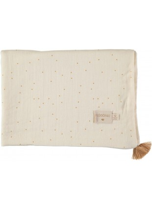 Nobodinoz Sommer-Decke Treasure 100x70 cm Honey Sweet Dots Natural