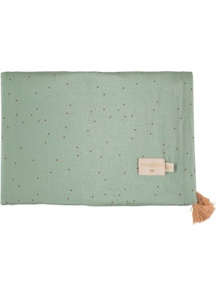 Nobodinoz Sommer-Decke Treasure 100x70 cm Toffee Sweet Dots - Eden Green
