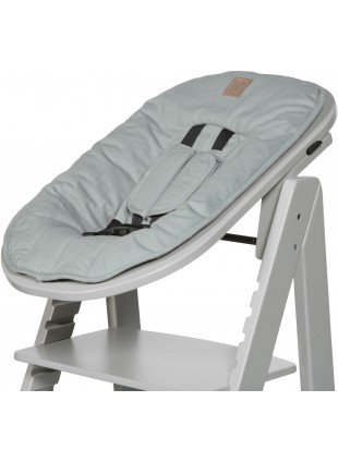 Kidsmill Hochstuhl Up! Baby-Set Solid Grey / Soft Green - Kleine Fabriek