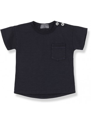 1+ in the family Baby-Shirt Kurzarm Vico Blue Notte