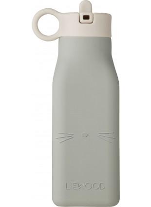 Liewood Silikon Trinkflasche Warren Cat Dove Blue