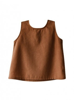 The Simple Folk Baby-Shirt Wilder Tank Rust