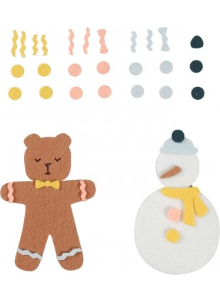 Fabelab Minimakers DIY Bastel-Set Filz Winter Friends - Kleine Fabriek