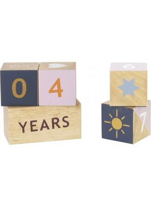 Ferm Living Wooden Age Blocks Zahlen-Würfel