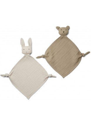 Liewood Baby-Schmusetuch Set Yoko Mini Sandy - Stone Beige