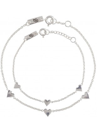 "Lennebelle Geschenk-Set Armband Mutter Tochter ""You are loved for eternity"" Silber - Kleine Fabriek"