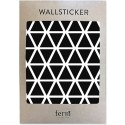 Ferm Living Wand-Sticker Triangles Schwarz - Kleine Fabriek