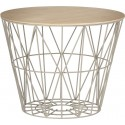 Ferm Living Wire Basket Deckel Eichenholz Hell