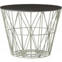 Ferm Living Wire Basket Deckel Eichenholz Schwarz