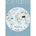OYOY Poster Love Animals The World - Kleine Fabriek