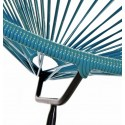 Boqa Acapulco Chair Design-Sessel Schwarz/Petrol Detail - Kleine Fabriek