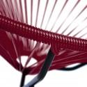 Boqa Acapulco Chair Design-Sessel Schwarz/Weinrot Detail - Kleine Fabriek