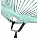 Boqa Acapulco Chair Design-Sessel Schwarz/Mint Detail - Kleine Fabriek