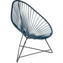 Boqa Acapulco Chair Design-Sessel Schwarz/Petrol - Kleine Fabriek