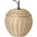 Rattan Apfel Aufbewahrungskorb Groß von Ferm Living kaufen - Kleine Fabriek
