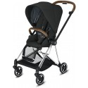 Mios Buggy Deep Black mit Gestell Chrome Braun - Kleine Fabriek