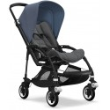 Bee 5 Bugaboo Buggy Styled by you mit Sonnendach Blau Melange - Kleine Fabriek