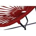 Boqa Acapulco Chair Chiquita Kinderstuhl Schwarz/Weinrot Detail - Kleine Fabriek