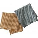 OYOY Strick-Spültuch Stringa Set Minty/Caramel - Kleine Fabriek