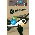 Wishbone Recycled Bike Sticker-Set Woodie - Kleine Fabriek