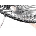 Boqa Acapulco Chair Wood Rocker Design-Schaukelstuhl Schwarz/Schwarz Detail - Kleine Fabriek