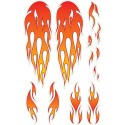 Wishbone Bike Sticker Set Flammen - Kleine Fabriek