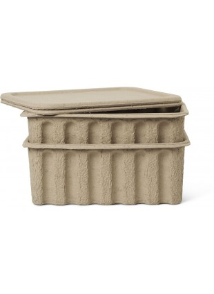Ferm Living Aufbewahrungskiste Set Paper Pulp Box Large