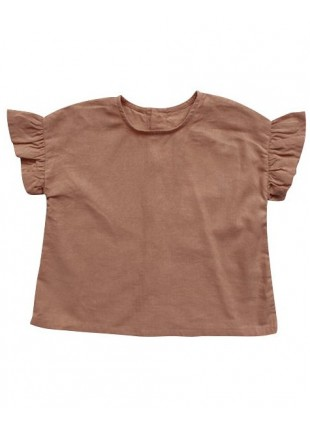 The Simple Folk Baby-Shirt Leinen Frill Cinnamon