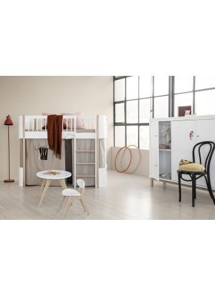 Oliver Furniture Wood Mini+ Halbhohes Hochbett Weiß/Eiche - Kleine Fabriek