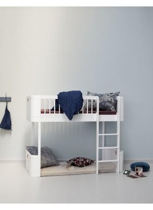 Oliver Furniture Wood Mini+ Halbhohes Hochbett Weiß/Weiß - Kleine Fabriek