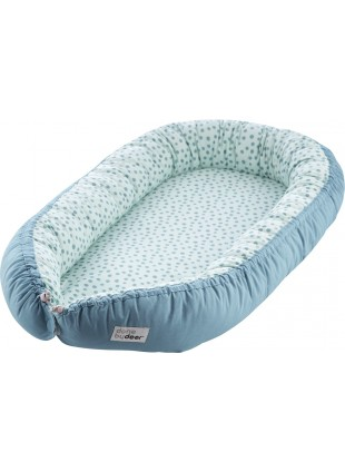 Done by Deer Cozy Nest Baby-Bettverkleinerung Happy Dots Blau