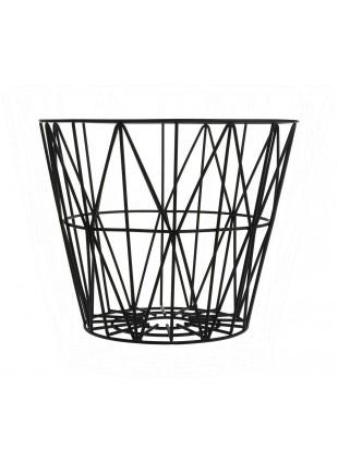 Ferm Living Wire Basket Schwarz S