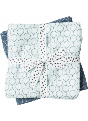 Done by Deer Mullwindel Wrap Windeltücher Set XL Balloon Blau