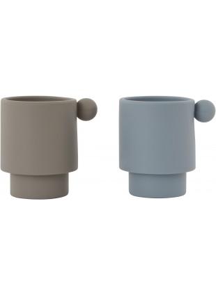 OYOY Silikon Becher Set Tiny Inka Blau - Grau kaufen - Kleine Fabriek