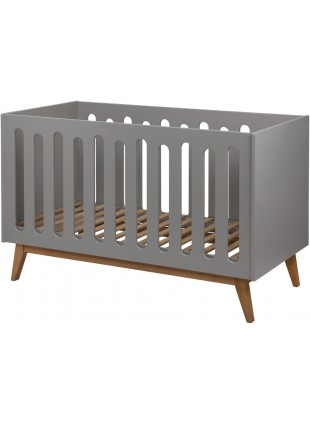 Quax Babybett - Umbaubett Trendy 70x140 cm Griffin Grey